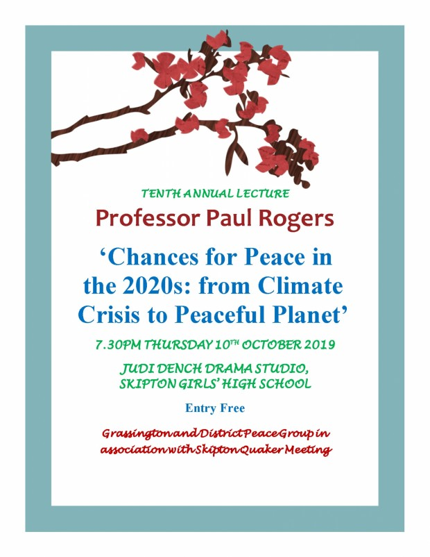 Annual lecture 2019 Paul Rogers poster (003) 2